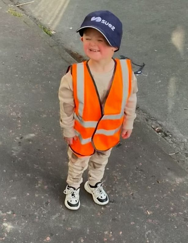Adorable boy, 3, 'obsessed' with refuse workers is made an honorary binman